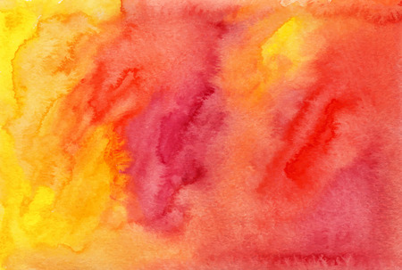 vivid colors: Orange and red watercolor painted background
