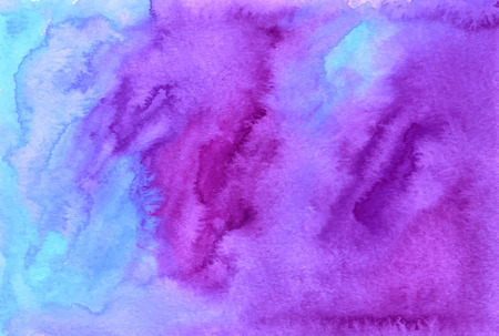 Purple watercolor painted vector background