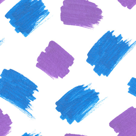 Blue and purple marker stains seamless pattern Vector