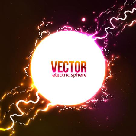 ball lightning: White vector plasma fireball