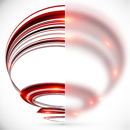 water vortex: Abstract spiral with blurred glass banner