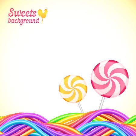 dulce de leche: Arco iris de caramelo colores dulces fondo