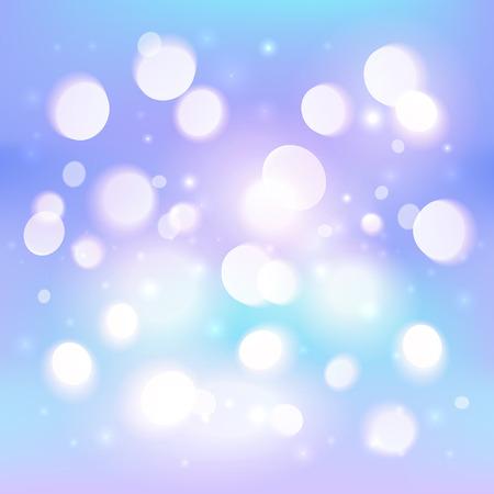shining light: Extracto de la luz brillante efecto bokeh de fondo azul Vectores