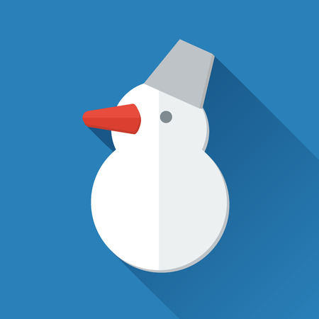 Simple snowman icon in flat style Vector
