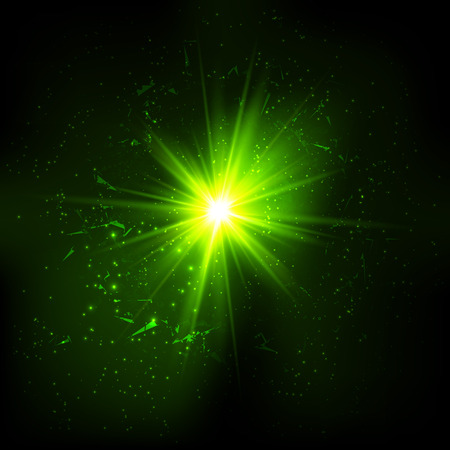 Dark green space vector explosion Vector