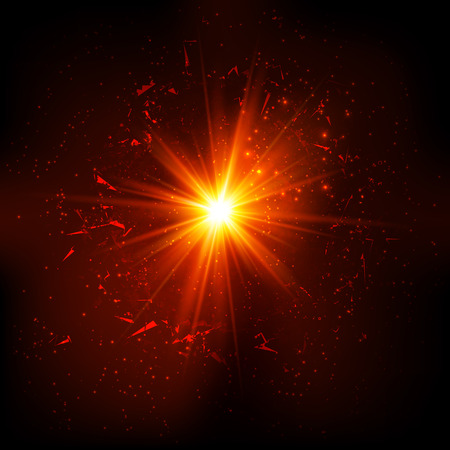 Dark red space vector explosion