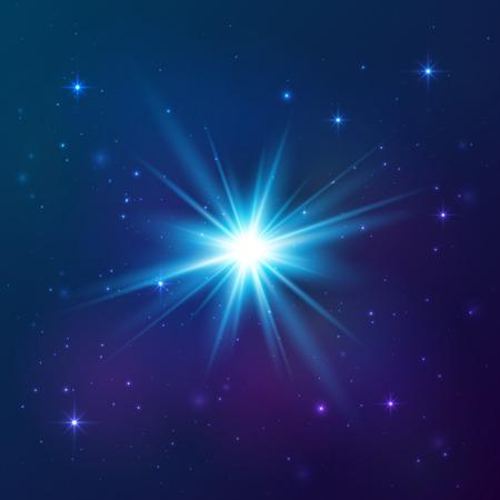 블루 빛나는 벡터 스타
