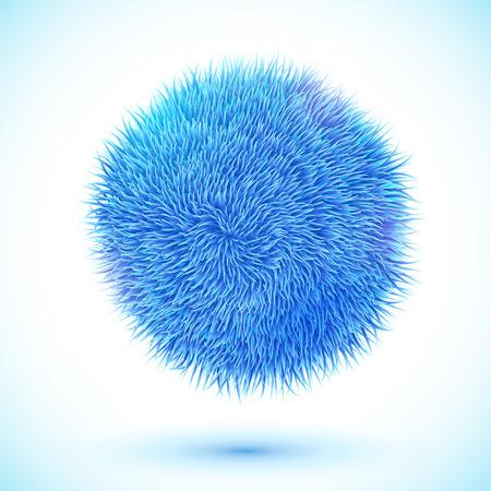 Blue fluffy vector ball Vector