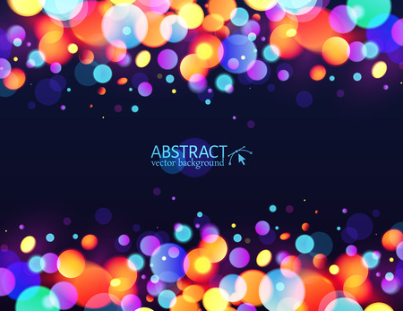Bright colorful bokeh light effect holiday background