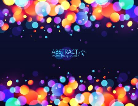 Bright colorful bokeh light effect holiday background Фото со стока - 34858876