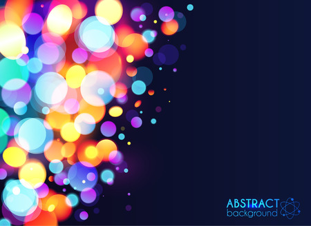 side effect: Bright colorful bokeh light effect abstract background