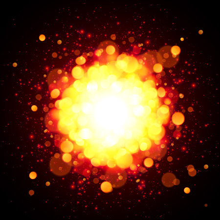 Orange fire space vector explosion Vector