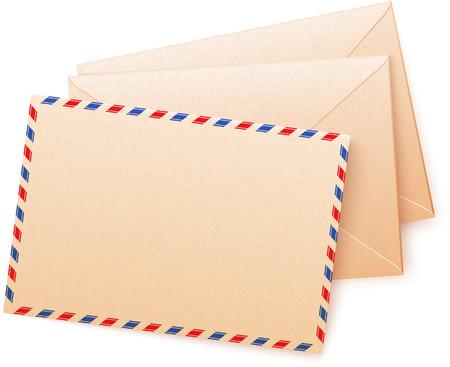 envelops: Craft paper vector envelops Illustration
