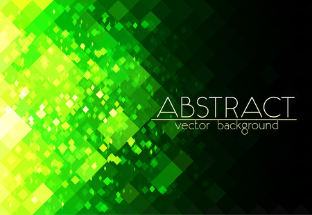 green grid: Bright green grid abstract horizontal background Illustration