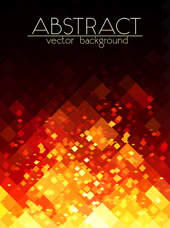 colourful fire: Bright orange fire grid abstract vertical background