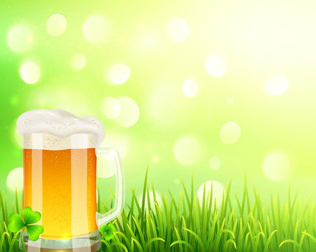 pint: Pint of beer on bokeh light background