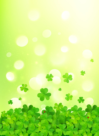 Light green vector background with clovers Vector