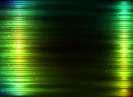 glowing lights: Green glowing lights vector abstract background
