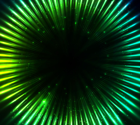 northern lights: Green shining cosmic lights abstract background