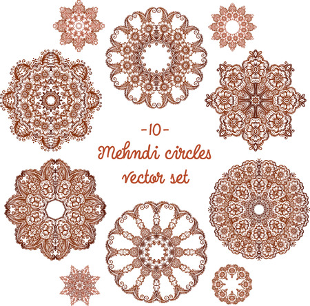 mhendi: Doodle circles set in indian mehndi style