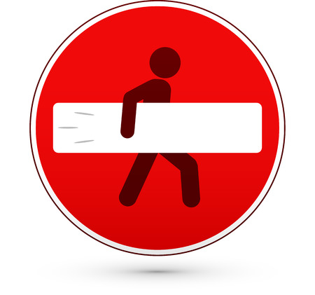 one way sign: Red stop road sign with surfer man