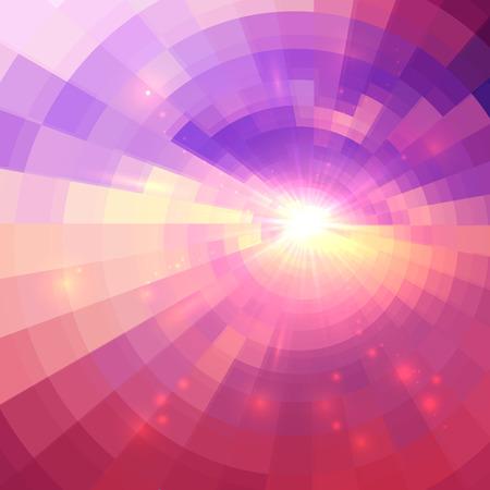 textures: Abstract pink vector Kreis Technologie Mosaik Hintergrund