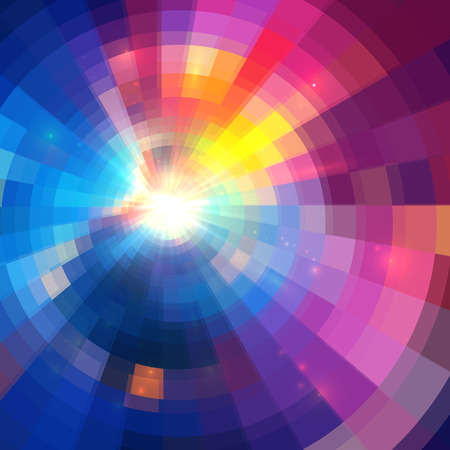 technology abstract: Abstract vector colorful circle technology mosaic background