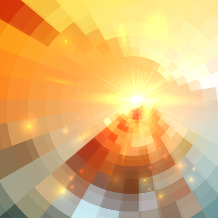 dawn: Abstract vector circle technology shining mosaic background Illustration