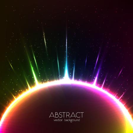 shining light: Rainbow luz brillante del vector esfera c�smica colorido Vectores