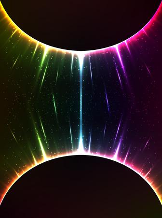 gravedad: Rainbow vector luz brillante esferas c�smica gravedad Foto de archivo
