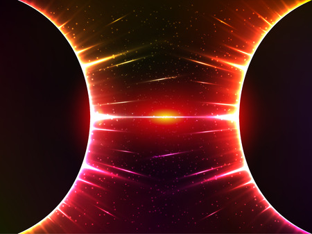 gravedad: Oscuro vectorial rojo brillante esfera cósmica gravedad