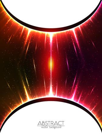 gravedad: Vector rojo brillante esferas c�smicas fondo gravedad Vectores