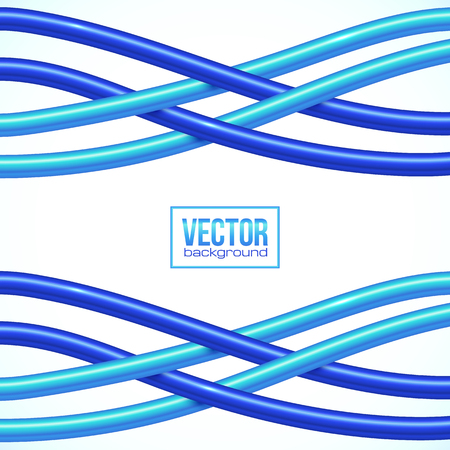 electrical wires: Blue vector crossing cables on white background