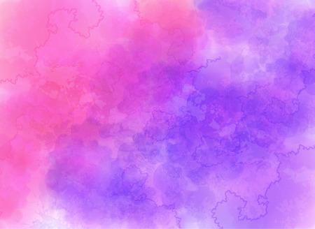 Efecto púrpura y rosado de la acuarela de fondo vector
