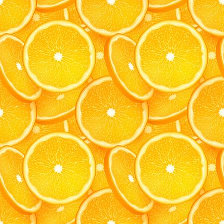 summer diet: Orange juicy slice vector seamless pattern tile Illustration
