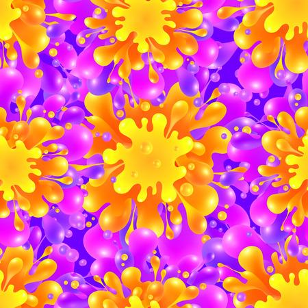 canlı renkli: Pembe ve turuncu renk boya sıçrama canlı vektör seamless pattern kiremit