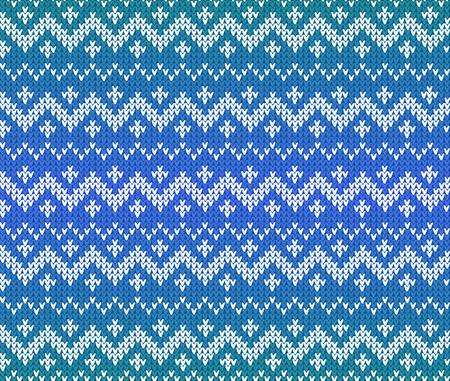 sueter: azul sin patrón de punto escandinava del vector del ornamento
