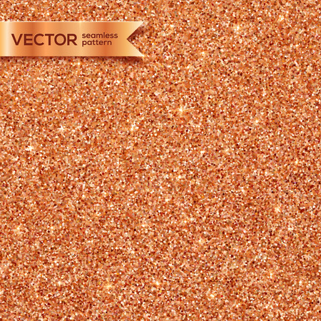 cobre: Luminoso cobre brillo vector de baldosas sin fisuras patrón