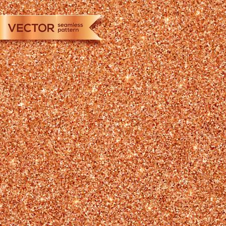 Shining copper glitter vector seamless pattern tile