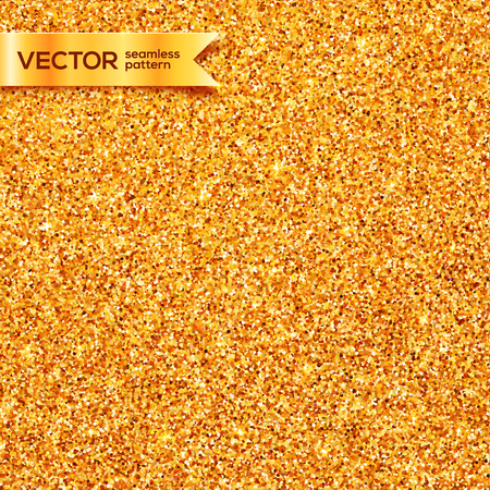seamless tile: Golden glitter texture vector seamless pattern tile Illustration