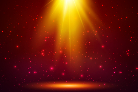 Red magic top light vector horizontal background Illustration