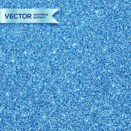 Blue shining glitter vector seamless pattern tile Vectores