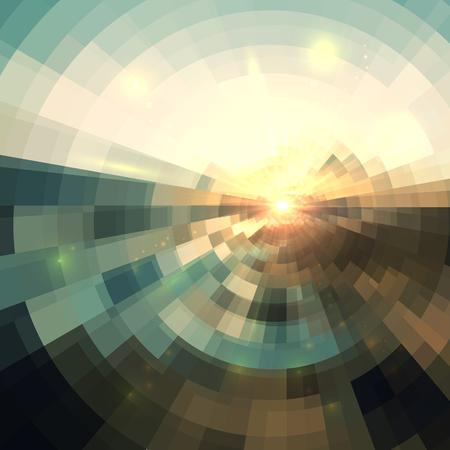Kleurrijke concentrische shining mozaïek vector abstracte achtergrond Stockfoto - 47347476