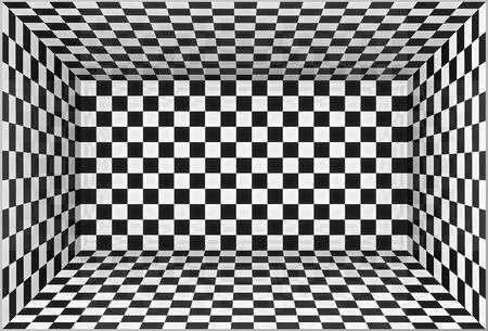 Zwart-wit schaakbord muren vector kamer achtergrond Stock Illustratie