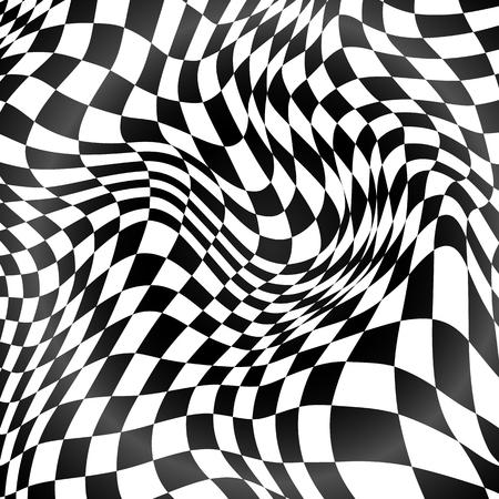 cuadros blanco y negro: Rejilla curvada vector de fondo blanco y negro abstracto Vectores