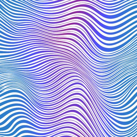 Abstracte blauwe en roze gestreepte golven vector achtergrond
