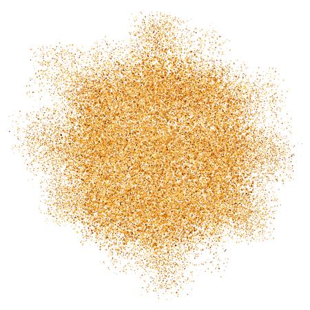 Or glitter texture vecteur splash sur fond blanc