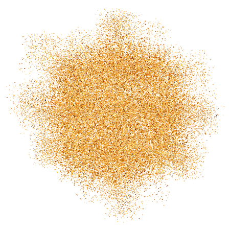 Golden glitter vector texture splash on white background