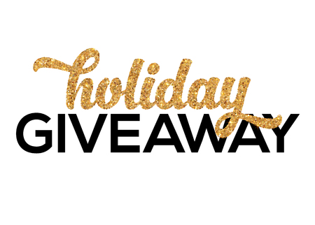 december: Golden Holiday Giveaway vector sign isolated on white background Illustration