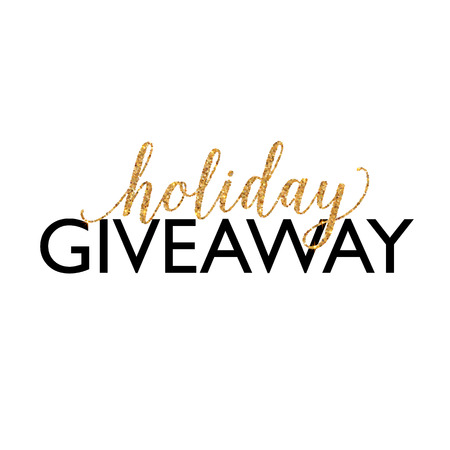 giveaway: Golden Holiday Giveaway vector sign isolated on white background Illustration